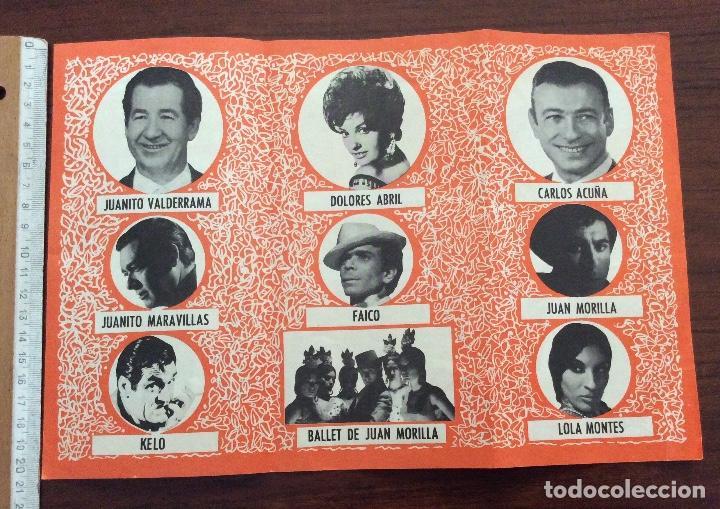 Carteles Espectáculos: GRUPO 3 CARTEL JUANITO VALDERRAMA, DOLORES ABRIL. 1960,1967,1971. TEATRO CERVANTES. MÁLAGA. - Foto 8 - 147530198