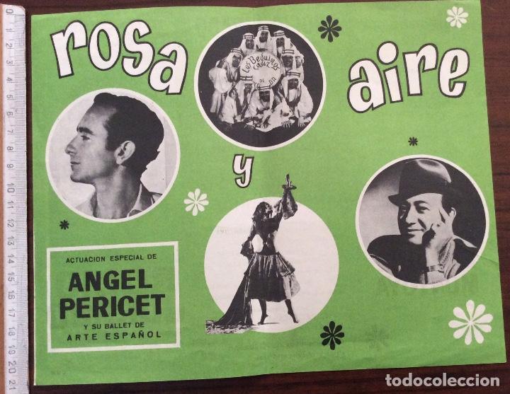 Carteles Espectáculos: CARTEL TEATRO CERVANTES, MÁLAGA. 1968. ROSA Y AIRE. ROCÍO JURADO. 21 x 26 CMS. - Foto 2 - 147531170