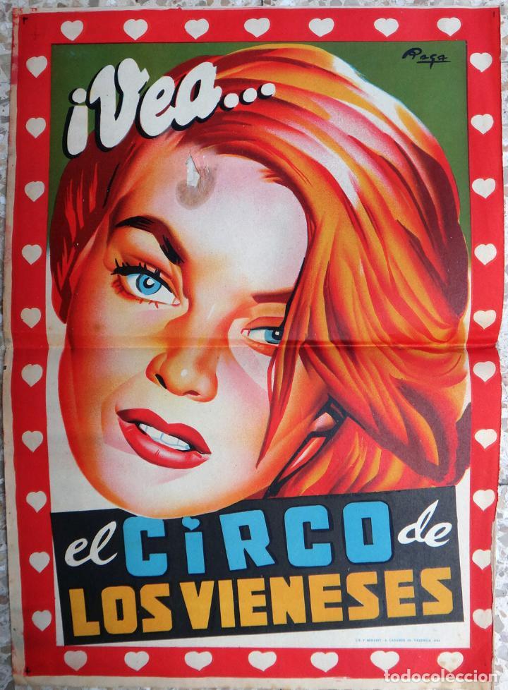 CARTEL CIRCO DE LOS VIENESES , 1959 , ORIGINAL (Coleccionismo - Carteles Gran Formato - Carteles Circo, Magia y Espectáculos)