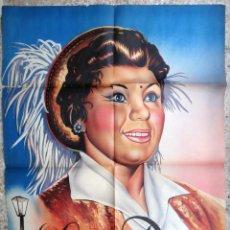 Carteles Espectáculos: CARTEL CIRCO LOLA DIEZ , LA VEDET CIRCENSE , LITOGRAFIA , ILUSTRADOR MARZAL , 1959 , ORIGINAL . Lote 147984154