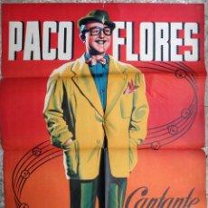 Carteles Espectáculos: CARTEL CIRCO , PACO FLORES CANTANTE COMICO , LITOGRAFIA , ILUSTRADOR RAGA , 1959 , ORIGINAL . Lote 147984842