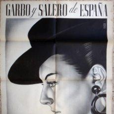 Carteles Espectáculos: CARTEL LOLA LOLITA SEVILLA , GARBO Y SALERO DE ESPAÑA ,LITOGRAFIA ,ILUSTRADOR RAGA , ORIGINAL . Lote 147986034