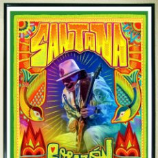 Carteles Espectáculos: BONITO CARTEL DE - SANTANA -CORAZON - LIVE FROM MEXICO - TAMAÑO 64X45 CMS. Lote 148108114