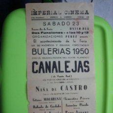 Carteles Espectáculos: ANTIGUO CARTEL DE ESPECTÁCULO FLAMENCO 1950. Lote 148232170