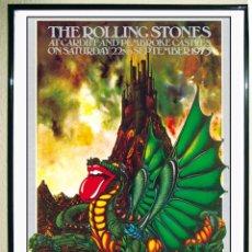 Carteles Espectáculos: BONITO POSTER DE - ROLLING STONES - 22 DE SEPTIEMBREDE 1973 . REEDICION.TAMAÑO 45 X 32 CMS. Lote 163713185