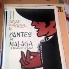 Carteles Espectáculos: CARTEL II GRAN CONCURSO DE CANTES DE MALAGA 1963. Lote 150076430