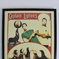 Carteles Espectáculos: C-803 SAXON BLUE CIRCUS.CAPTAIN LIPTON'S.AÑOS 80. Lote 150379742