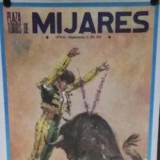 Carteles Espectáculos: CARTEL. TOREO. MIJARES. 1988.. Lote 152042706
