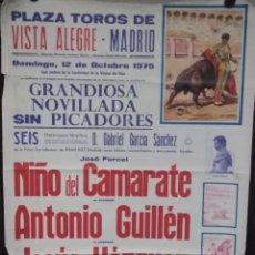 Carteles Espectáculos: CARTEL. PLAZA DE TOROS DE VISTA ALEGRE. MADRID. 1975.. Lote 152045594