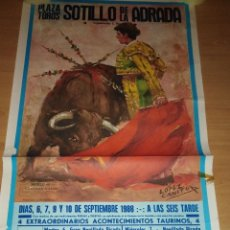 Carteles Espectáculos: CARTEL. PLAZA DE TOROS SOTILLO DE LA ADRADA. 1988.. Lote 152043286