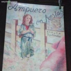 Carteles Espectáculos: CARTEL. AMPUERO EN FIESTAS. ENCIERROS 1994.. Lote 152052310