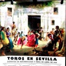 Carteles Espectáculos: CARTEL. TOROS EN SEVILLA. 1968.. Lote 152041902
