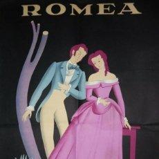 Carteles Espectáculos: CARTELL L'HEREU I LA FORASTERA - TEATRO ROMEA - JOSEP MARIA DE SAGARRA - MCP. Lote 118032911