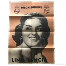 Carteles Espectáculos: CARTEL LINA LANCIA 69X49,6 CM. Lote 153608262