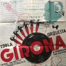 Carteles Espectáculos: CARTEL ORQUESTA GIRONA 62X87,2 CM. Lote 153608366