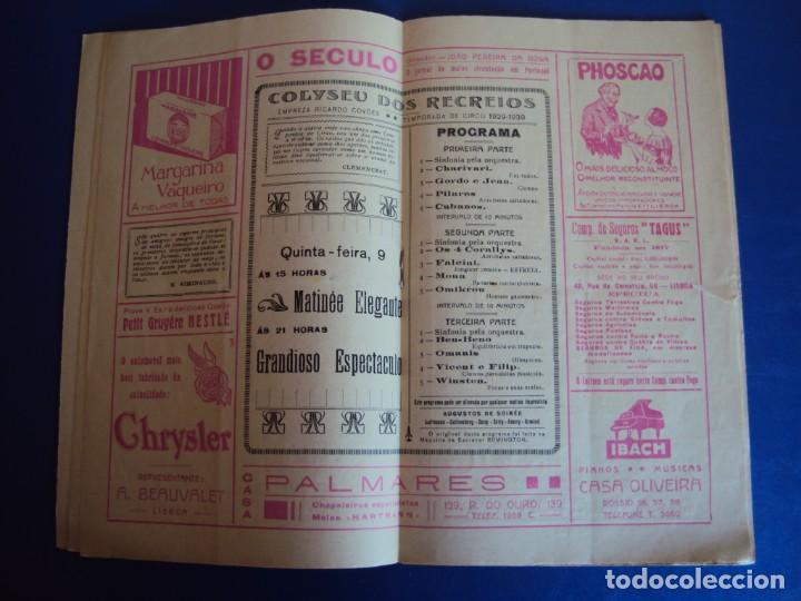 Carteles Espectáculos: (RE-190303)PROGRAMA CIRCO COLYSEU DOS RECREIROS TEMPORADA 1929-1930 - Foto 9 - 154265178