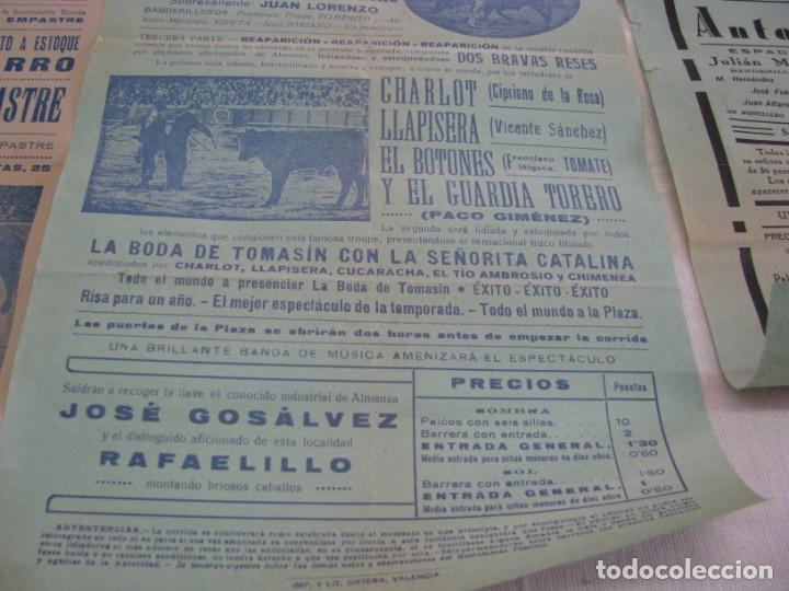 Carteles Espectáculos: LOTE DE 4 CARTELES PLAZA DE TOROS DE VILLENA AÑOS 1930,S - Foto 5 - 176344865