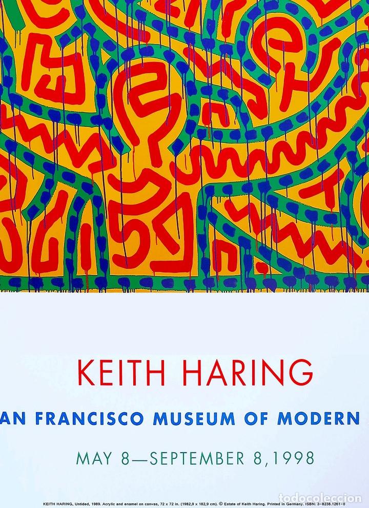 Carteles Espectáculos: Cartel de la Exposición - Keith Haring - Arte Pop DEL AÑO 1998. SAN FRANCISCO TAMAÑO 93 x 67,5cms - Foto 2 - 246607695