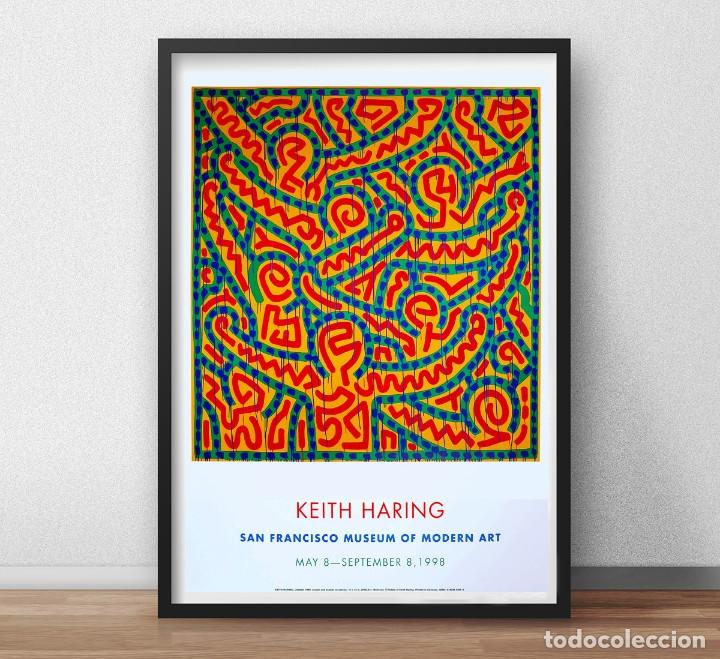 Carteles Espectáculos: Cartel de la Exposición - Keith Haring - Arte Pop DEL AÑO 1998. SAN FRANCISCO TAMAÑO 93 x 67,5cms - Foto 3 - 246607695