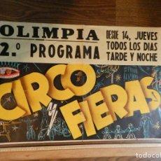 Carteles Espectáculos: EXCELENTE CARTEL POSTER CIRCO FIERAS 1946 ORIGINAL ESPAÑOL PRICE CIRCUITOS CARCELLÉ GRAN 80 X 45 CMS. Lote 158599890