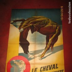 Carteles Espectáculos: ANTIGUO CARTEL EN LITOGRAFÍA DE CIRCO HERVAS PRESENTA EL CABALLO CONTORSIONISTA - AÑO 1950. Lote 172603815