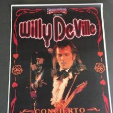 Carteles Espectáculos: CARTEL WILLY DEVILLE CONCIERTO BARCELONA. Lote 193908596