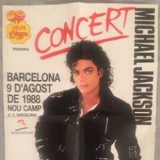 Affiches Spectacles: CARTEL MICHAEL JACKSON CONCIERTO BARCELONA 1988. Lote 191757672