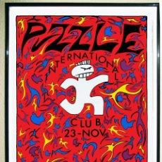 Carteles Espectáculos: CARTEL POSTER DISCOTECA - PUZZLE - INTERNATIONAL CLUB DISEÑO TIN 1991 TAMAÑO 65 X 90 CMS. Lote 167478901