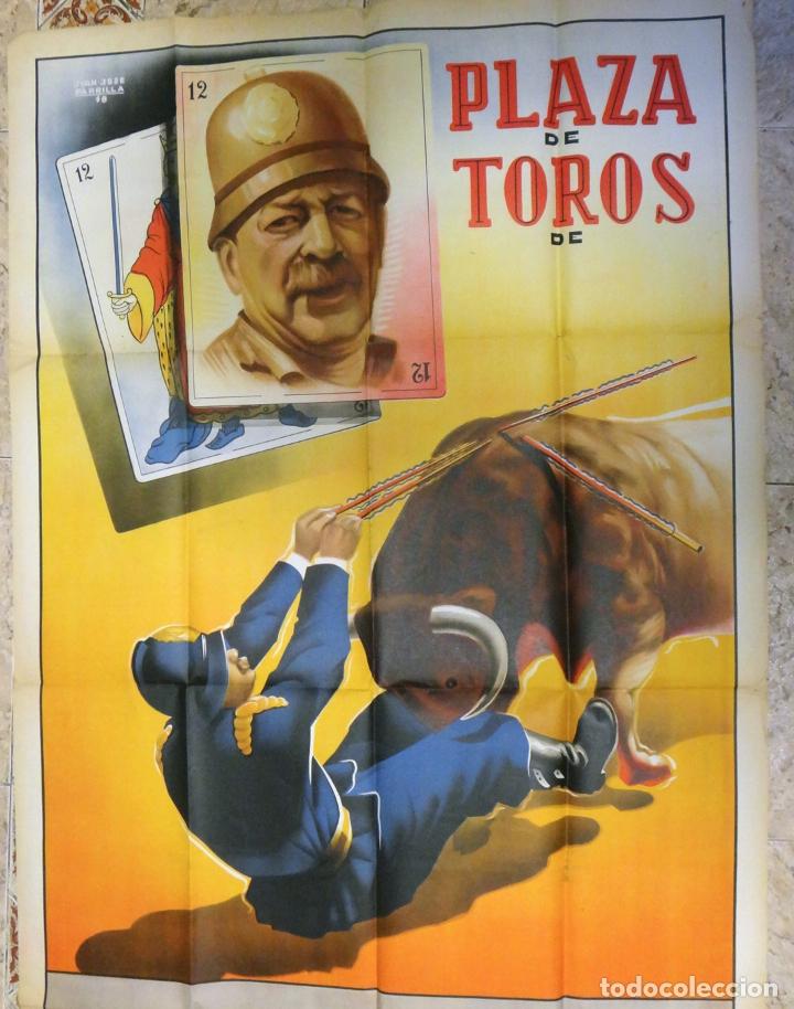 Carteles Espectáculos: CARTEL TOROS ESPECTACULOS CIRCO COMICO TAURINOS , LITOGRAFIA , GRAN TAMAÑO , ORIGINAL - Foto 2 - 167737608