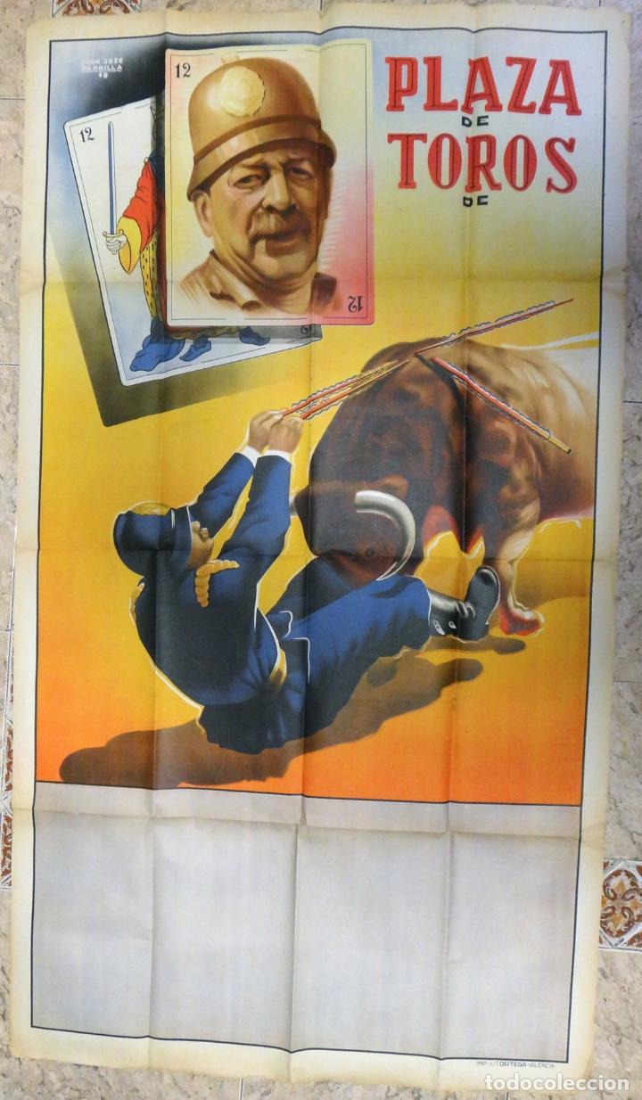 CARTEL TOROS ESPECTACULOS CIRCO COMICO TAURINOS , LITOGRAFIA , GRAN TAMAÑO , ORIGINAL (Coleccionismo - Carteles Gran Formato - Carteles Circo, Magia y Espectáculos)