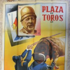 Carteles Espectáculos: CARTEL TOROS ESPECTACULOS CIRCO COMICO TAURINOS , LITOGRAFIA , GRAN TAMAÑO , ORIGINAL. Lote 167737608