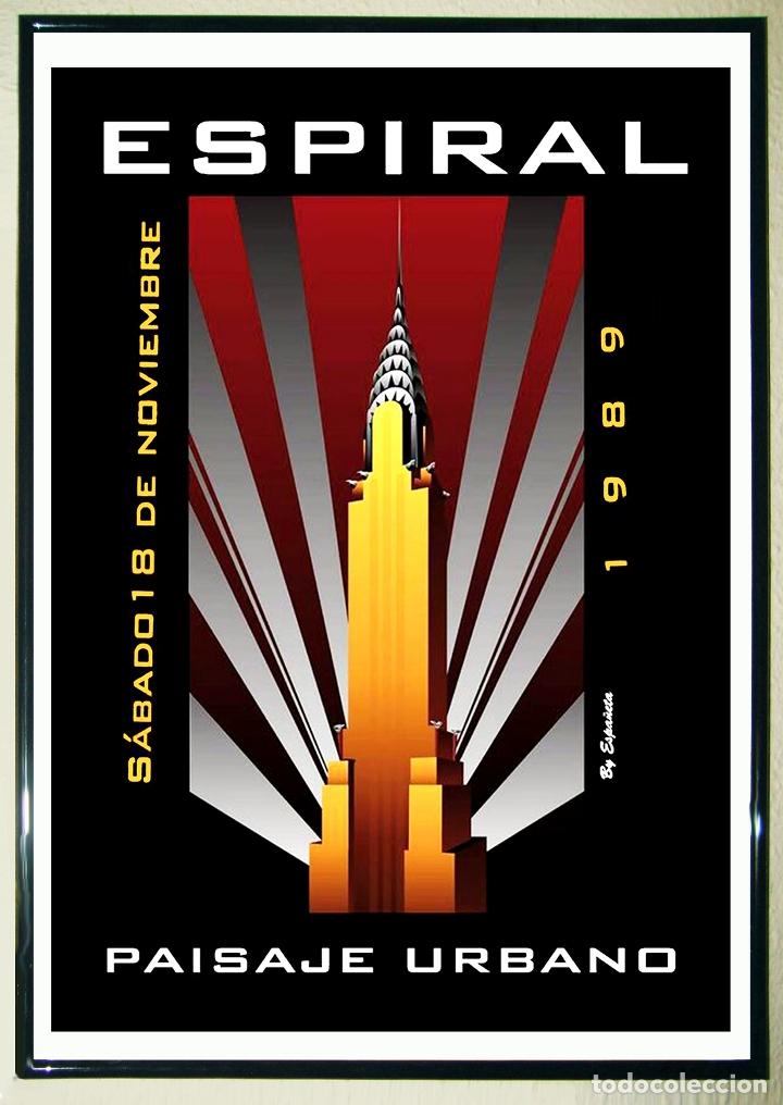 CARTEL DE - ESPIRAL 1989 - TAMAÑO 68 X 47,5 CMS (Coleccionismo - Carteles Gran Formato - Carteles Circo, Magia y Espectáculos)