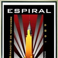 Carteles Espectáculos: CARTEL DE - ESPIRAL 1989 - TAMAÑO 68 X 47,5 CMS. Lote 290144768
