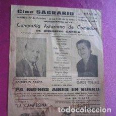 Carteles Espectáculos: CARTEL COMPAÑIA ASTURIANA DE COMEDIAS EL PRESI ROSARIO TRABANCO,. Lote 169394156