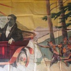 Carteles Espectáculos: MUY RARO! CARTEL LITOGRÁFICO DE MAGIA, FRANCÉS?TAMAÑO GIGANTE . FINALES XIX. 1900. PRESTIDIGITACIÓN.. Lote 171678345