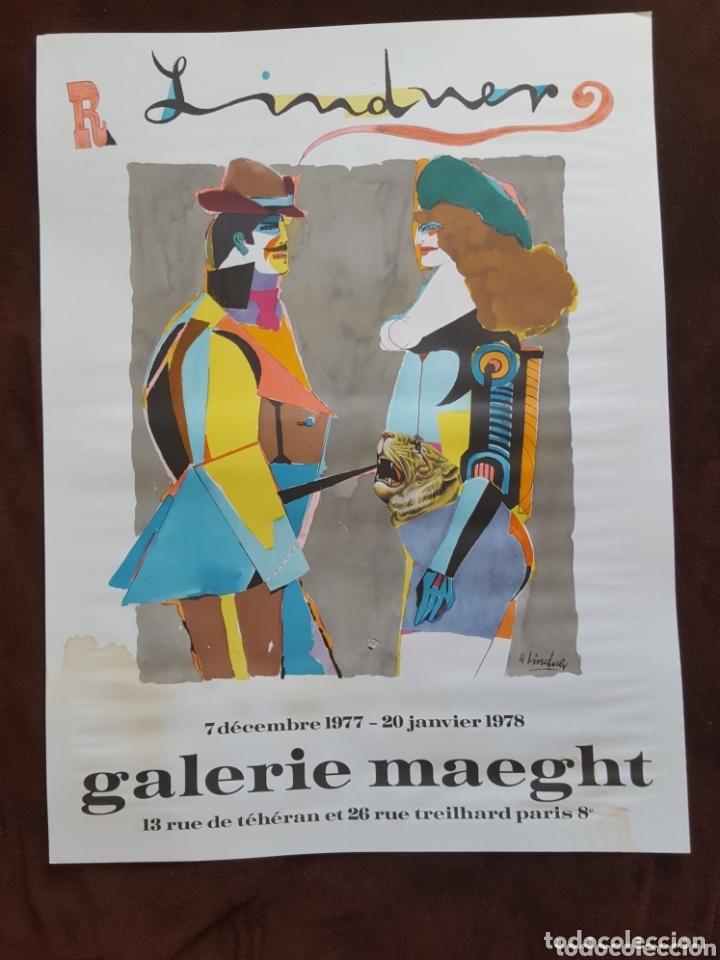CARTEL DE EXPOSICIÓN R LINDNER-GALERIE MAEGHT- PARÍS 1978 (Coleccionismo - Carteles Gran Formato - Carteles Circo, Magia y Espectáculos)