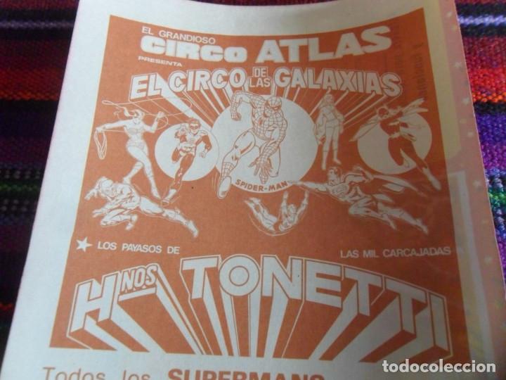 Carteles Espectáculos: STAR WARS ENTRADA ATLAS EL CIRCO DE LA GUERRA DE LAS GALAXIAS, SPIDERMAN SUPERMAN HERMANOS TONETTI. - Foto 4 - 173503558