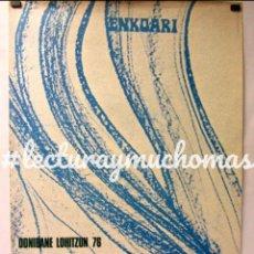 Carteles Espectáculos: HISTÓRICO CARTEL ZINEMAREN EUSKAL ASTEA 1976 DONIBANE LOHITZUN ENKOARI ZINEMA LA PERGOLA. Lote 128396575