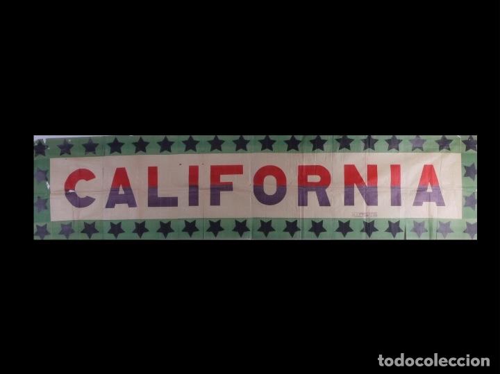 Carteles Espectáculos: CALIFORNIA. CARTEL SUPER FORMATO. AÑOS 50 - Foto 2 - 175687032