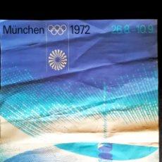Carteles Espectáculos: CARTEL DE LAS OLIMPIADAS DE MÜNCHEN ALEMANIA 1972 - TAMAÑO 84X 62 CMS. Lote 176030997