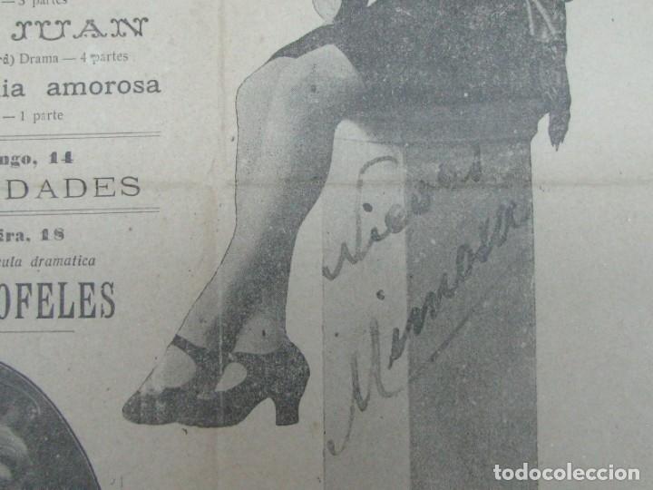 Carteles Espectáculos: CARTEL CINEMA CASINO DA PAREDE. BAILARINA NIEVES MIMOSA DON JUAN ASTRONOMÍA AMOROSA. AÑO 1919 - Foto 3 - 176986197