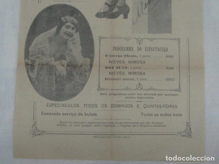 Carteles Espectáculos: CARTEL CINEMA CASINO DA PAREDE. BAILARINA NIEVES MIMOSA DON JUAN ASTRONOMÍA AMOROSA. AÑO 1919 - Foto 4 - 176986197