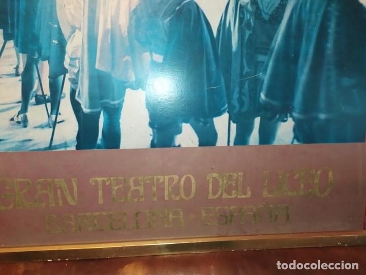 Carteles Espectáculos: UNiCO GRAN CARTEL OBRA CREO LOS TRES MOSQUETEROS PAPEL SOBRE TABLA GRAN LICEO BARCELONA ESPAÑA 97X65 - Foto 18 - 177497918