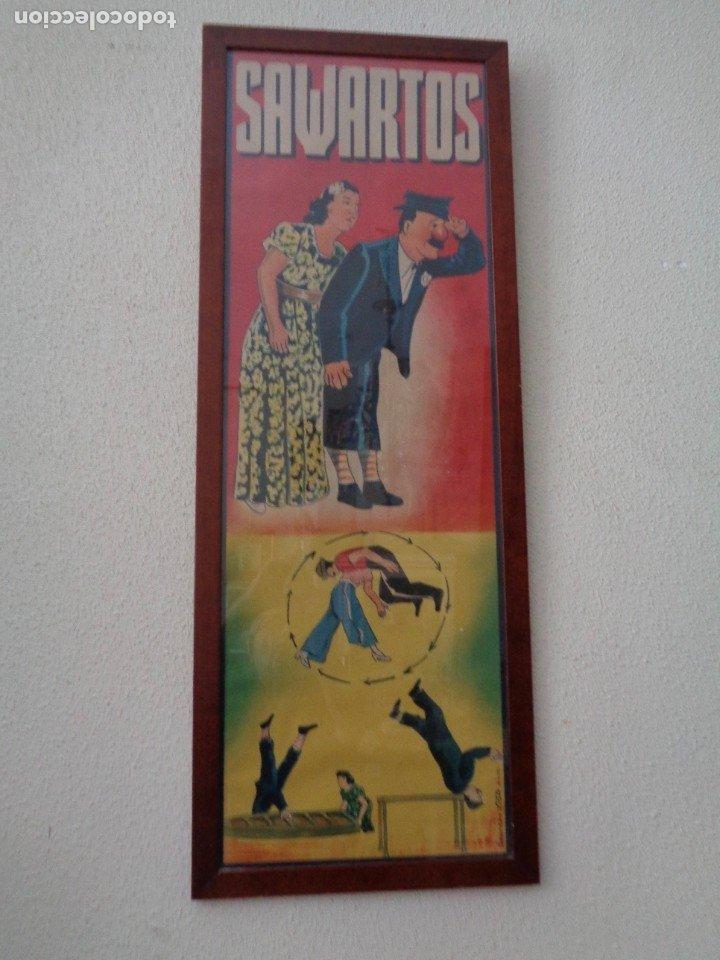 CARTEL DE LA TROUPE SAWARTOS.BARCELONA SOBRE 1920 (Coleccionismo - Carteles Gran Formato - Carteles Circo, Magia y Espectáculos)