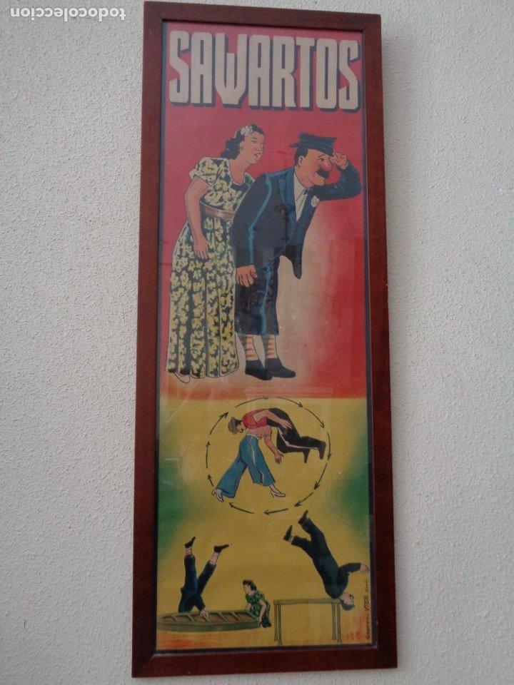 Carteles Espectáculos: CARTEL DE LA TROUPE SAWARTOS.BARCELONA SOBRE 1920 - Foto 2 - 178728327
