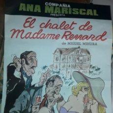 Carteles Espectáculos: CARTEL POSTER EL CHALET DE MADAME RENARD 1961. Lote 179989331