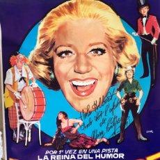 Carteles Espectáculos: CARTEL MARY SANTPERE GRAN FESTIVAL DEL CIRCO LAS ARENAS BARCELONA 1971. FIRMADO DE PUÑO Y LETRA. . Lote 180836287