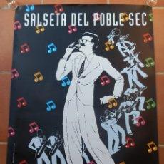Carteles Espectáculos: CARTEL PUBLICITARIO DE L'ORQUESTRA SALSETA DEL POBLE SEC. DISSENY GRÀFIC DE P. VILLUENDAS, JR GÓMEZ.. Lote 181345472