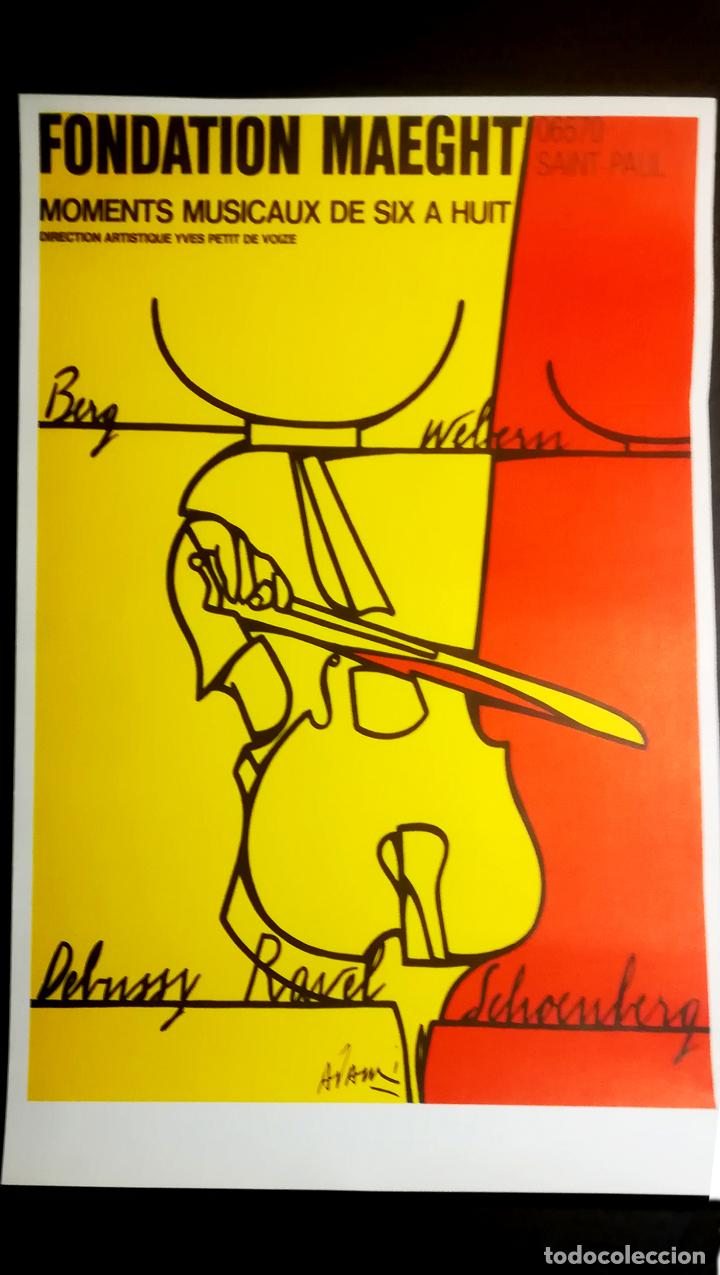 Carteles Espectáculos: CARTEL DE Valerio Adami,litografía original-Momentos musicales de seis a ocho-Fundación Maeght 1976 - Foto 2 - 107465523