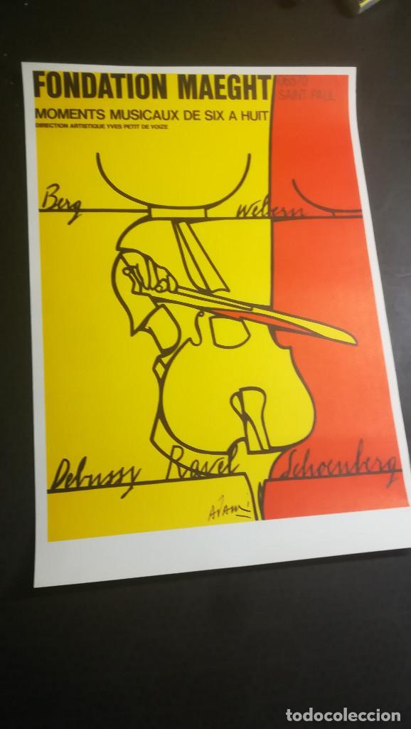 Carteles Espectáculos: CARTEL DE Valerio Adami,litografía original-Momentos musicales de seis a ocho-Fundación Maeght 1976 - Foto 3 - 107465523